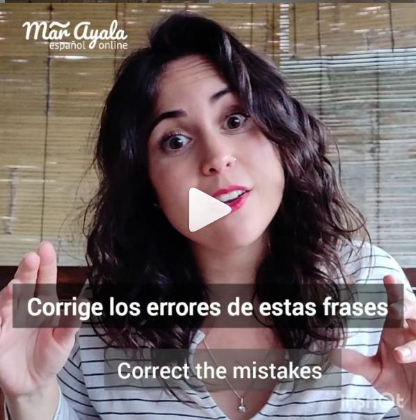 Descubre y corrige los errores del vídeo para hablar mejor en español